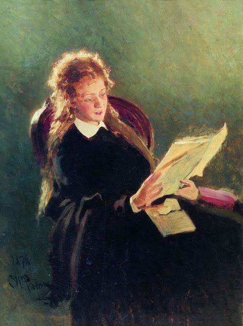 Илья Ефимович Репин(1844-1930) Читающая девушка. 1876