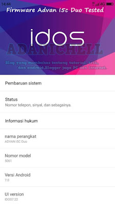 Firmware Advan I5c Duo Tested