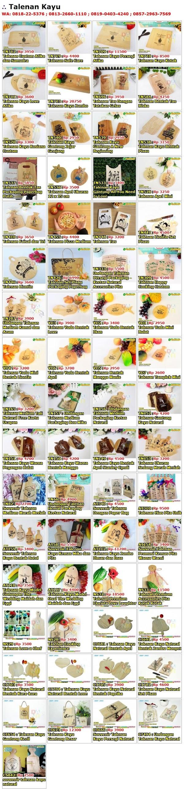 Daftar Harga Souvenir Talenan Kayu