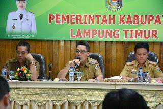 KPK Akan Datangi Lampung Timur, Wabub Rakor Dengan OPD