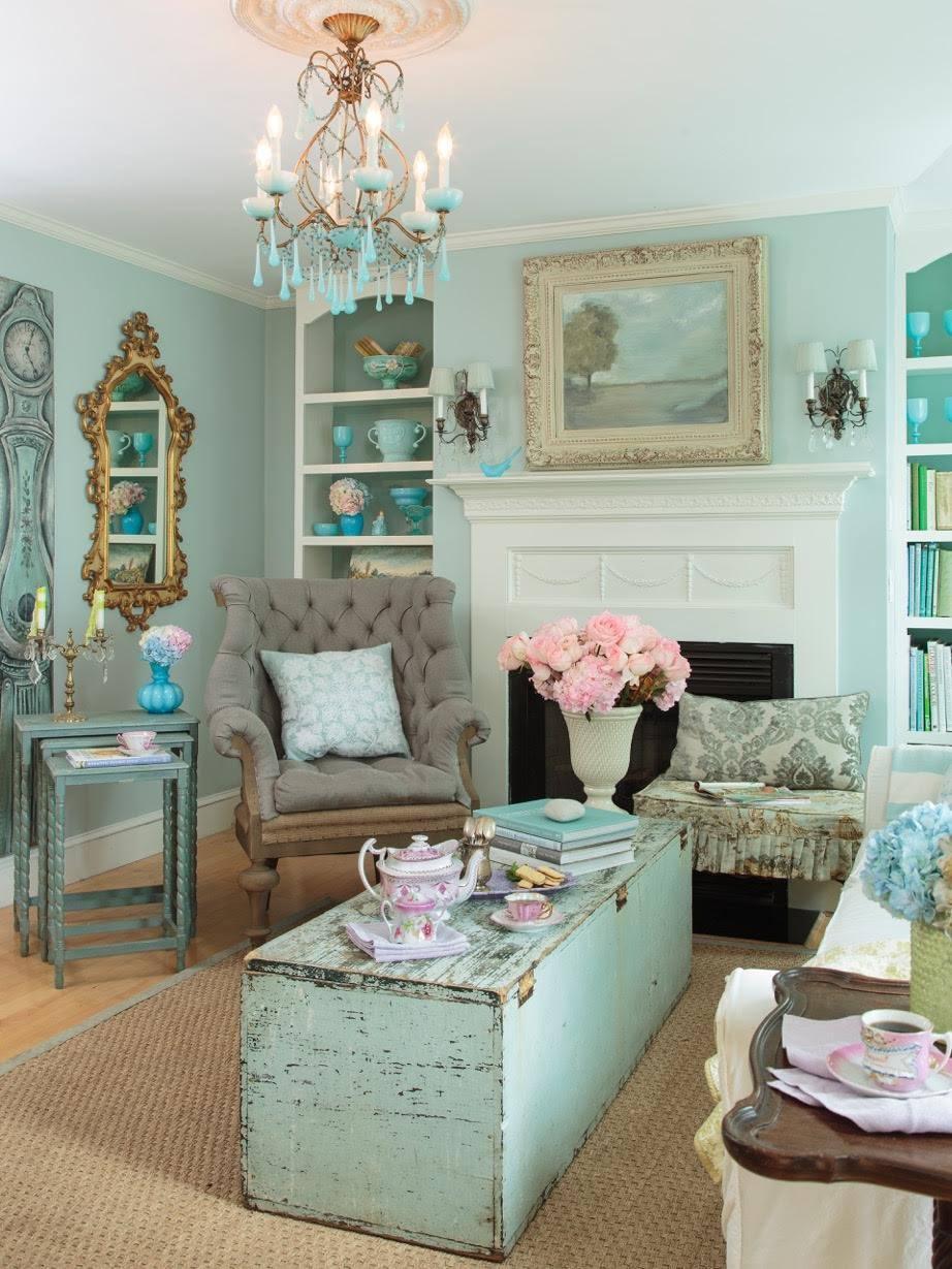 Romantic Living Room: Maison Decor: French Provincial Cabinet Doors Solve A