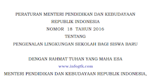 Permendikbud No 18 Tahun 2016