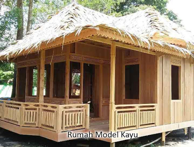 rumah model kayu