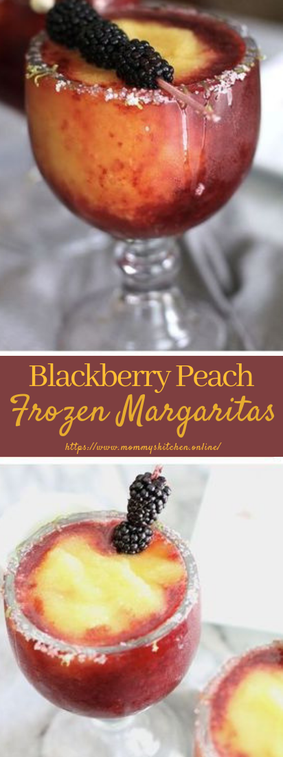 Blackberry Peach Frozen Margaritas  #drinkrecipes #summerdrinkandparty