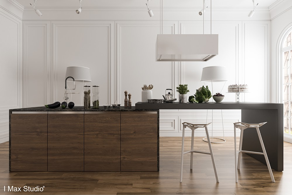 dark-wood-kitchen-island
