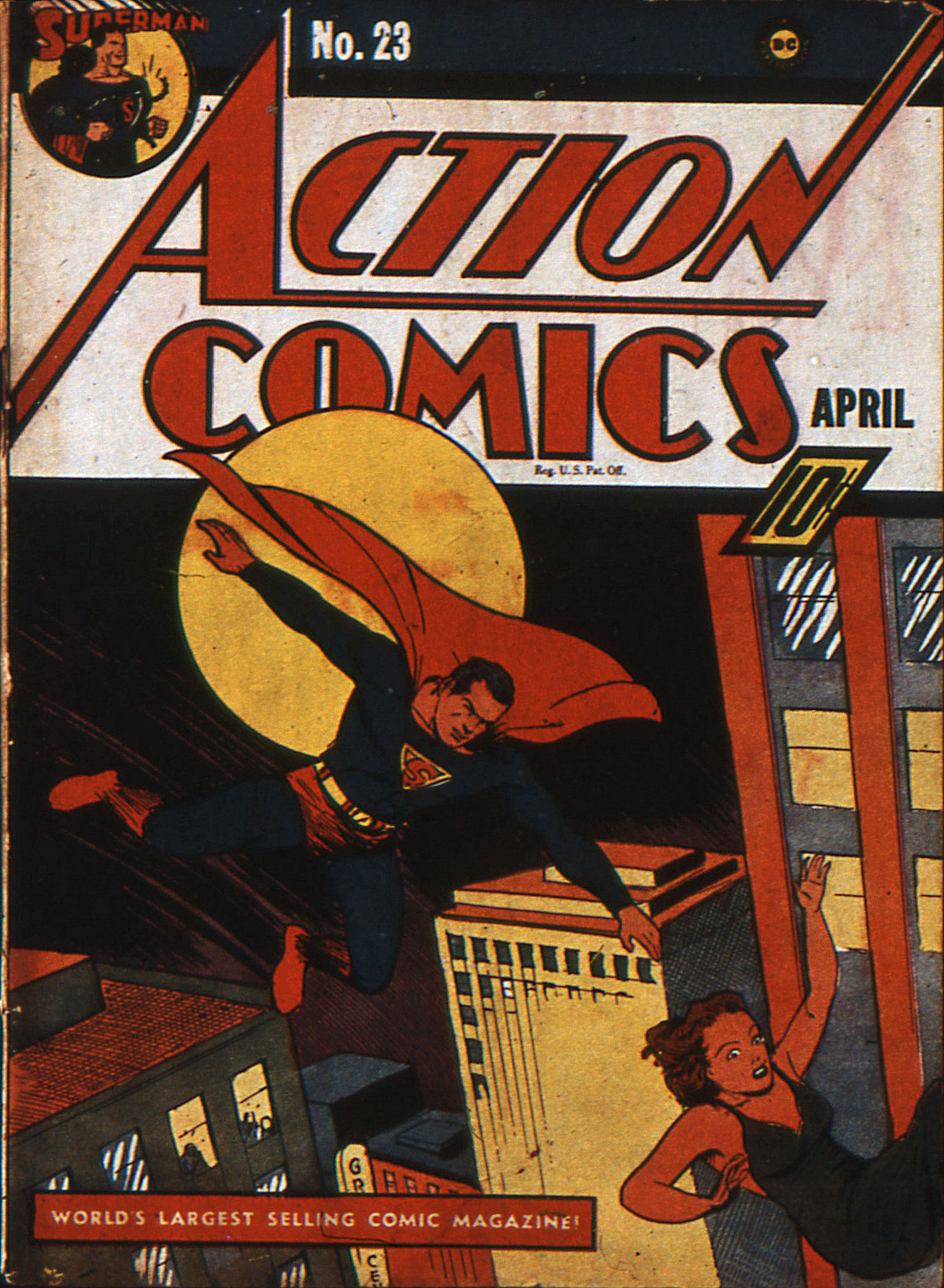 Read online Action Comics (1938) comic -  Issue #23 - 1