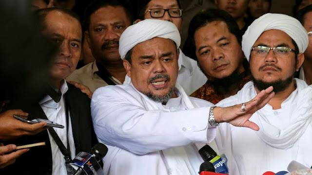 Habib Rizieq Bandingkan Kasusnya dengan Honggo yang Lari ke Singapura