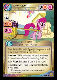 My Little Pony Berry Punch, Party Preparations Friends Forever CCG Card