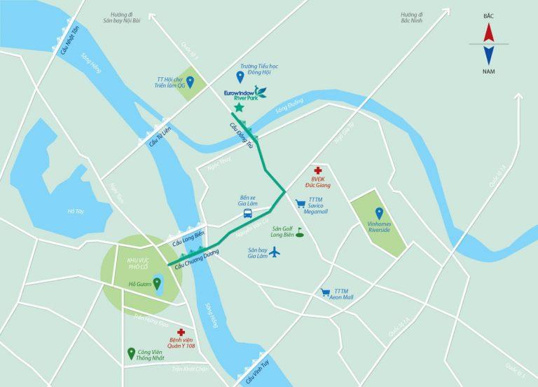 Vị trí giao thông dự án Eurowindow River Park