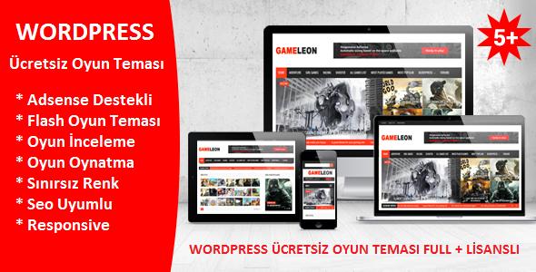2017 GAMELEON V5.5 WordPress Magazin ve Oyun Teması Ücretsiz