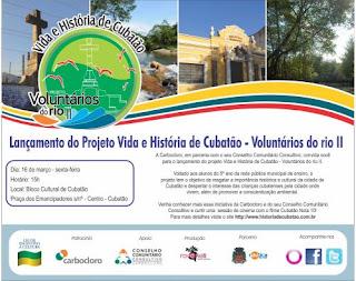 Convite do projeto Vida e História de Cubatão