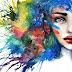 Fantastico y colorido arte con acuarelas.