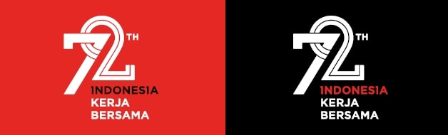 Logo sekunder HUT RI 2017