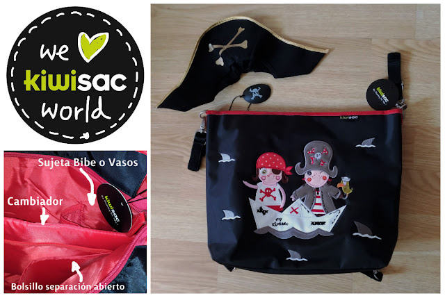 The pirate bolso mochila bandolera kiwisac piratas