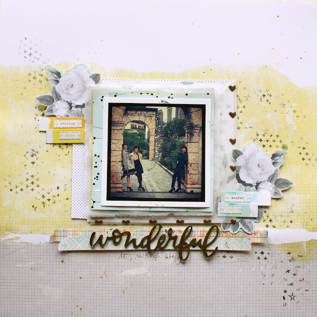 Wonderful - scrapbooking layout