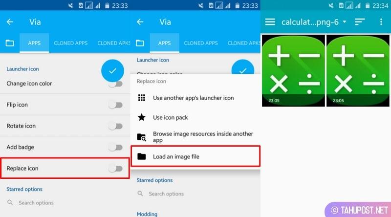 Pilih Ikon - Cara Mengubah Aplikasi Android Menjadi Fake Calculator