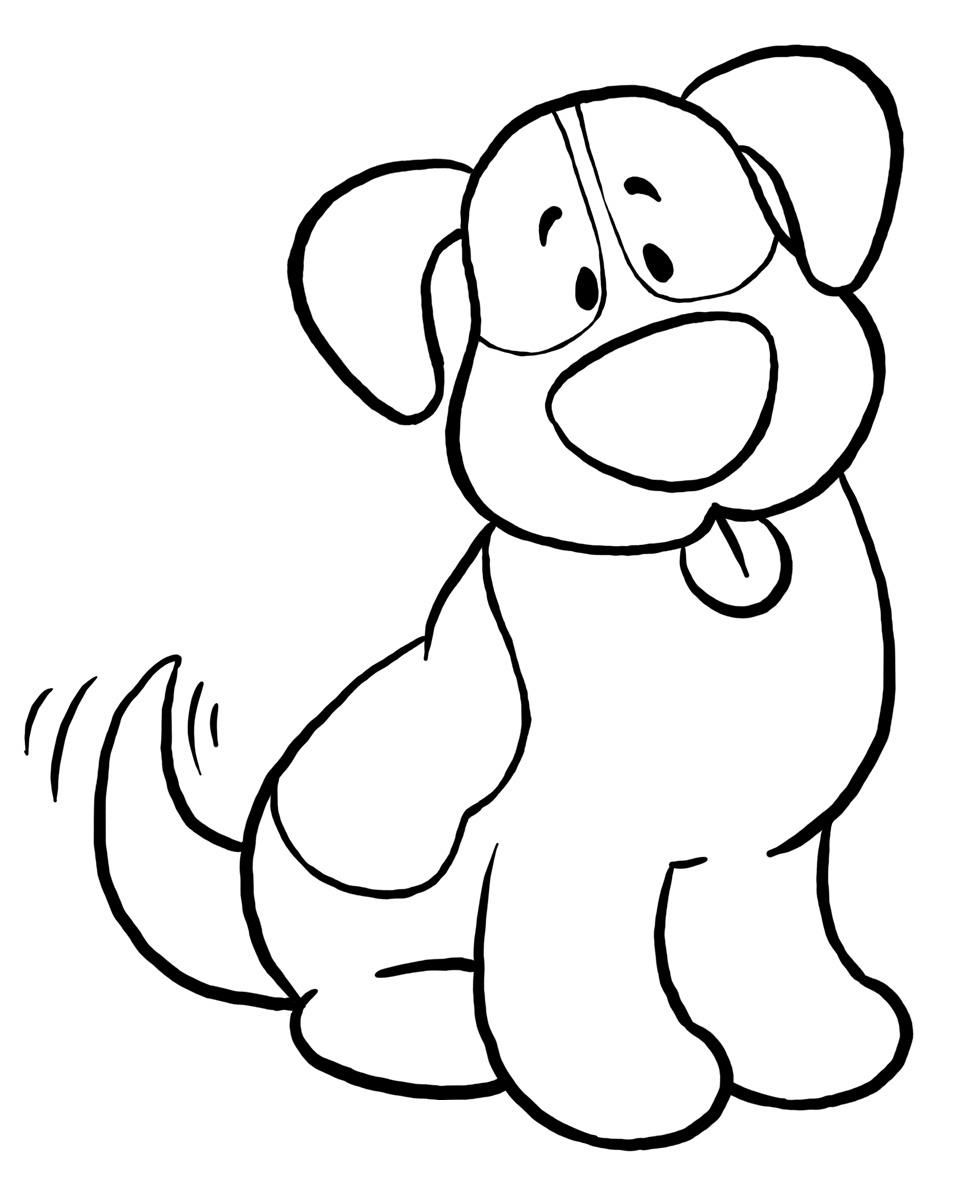 Cachorro E Gato Desenhos Preto E Branco Para Colorir
