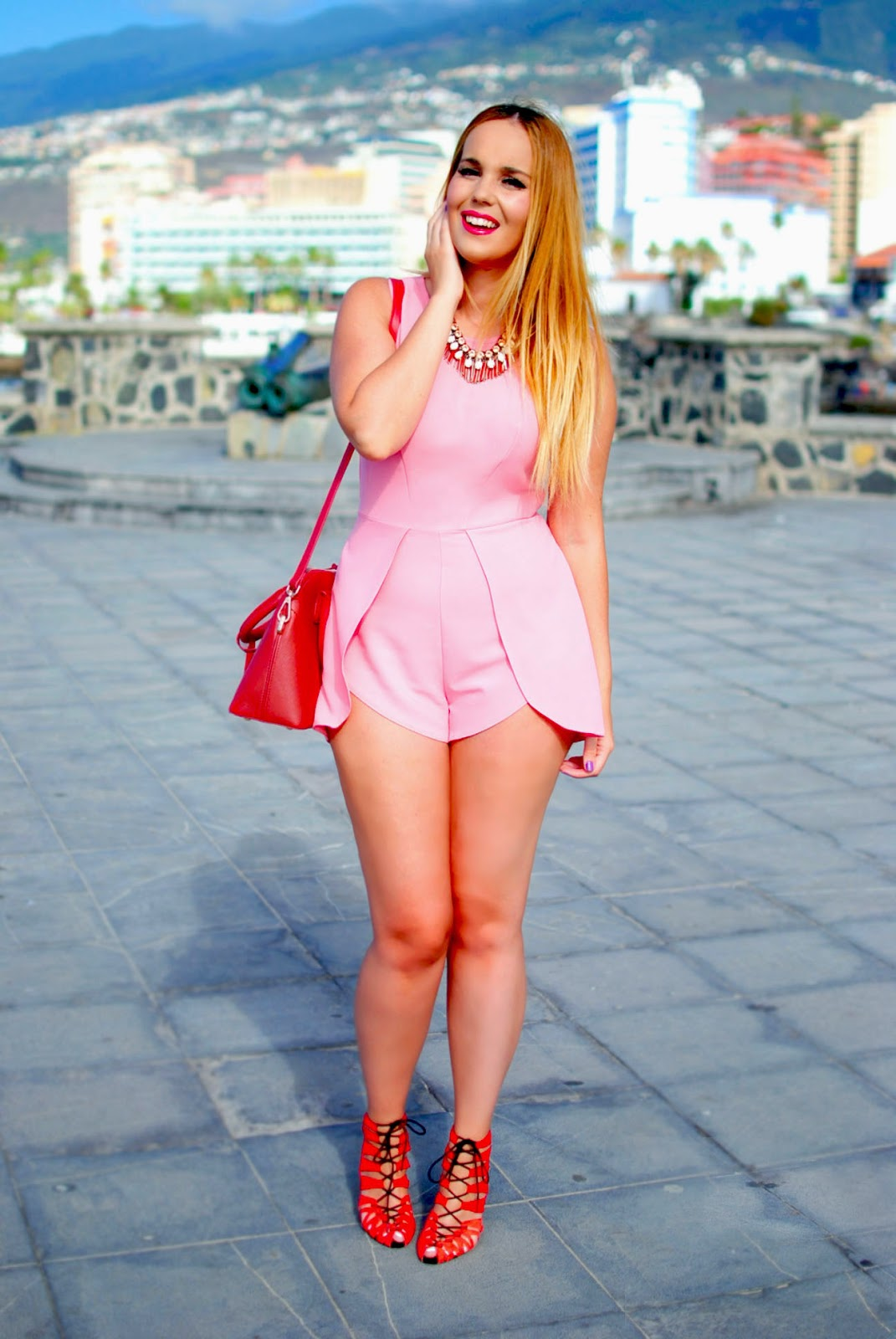 nery hdez, blonde, inlovewithfashion , in love with fashion playsuit, mono corto, ottaviani bujoux