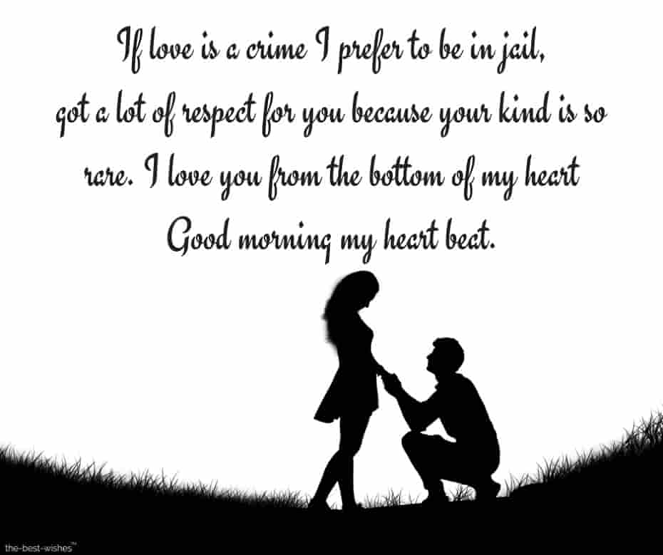 good morning love letters for girlfriend with romantic image
