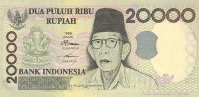Foto Ki Hajar Dewantara dalam Uang Rupiah