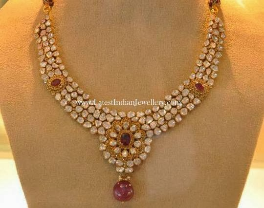 Pachi Diamond ruby Necklace