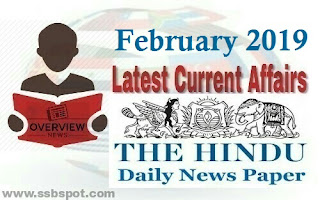 February 2019 Current Affairs - The Hindu review