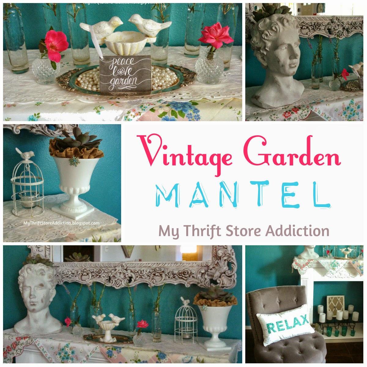 Garden inspired mantel