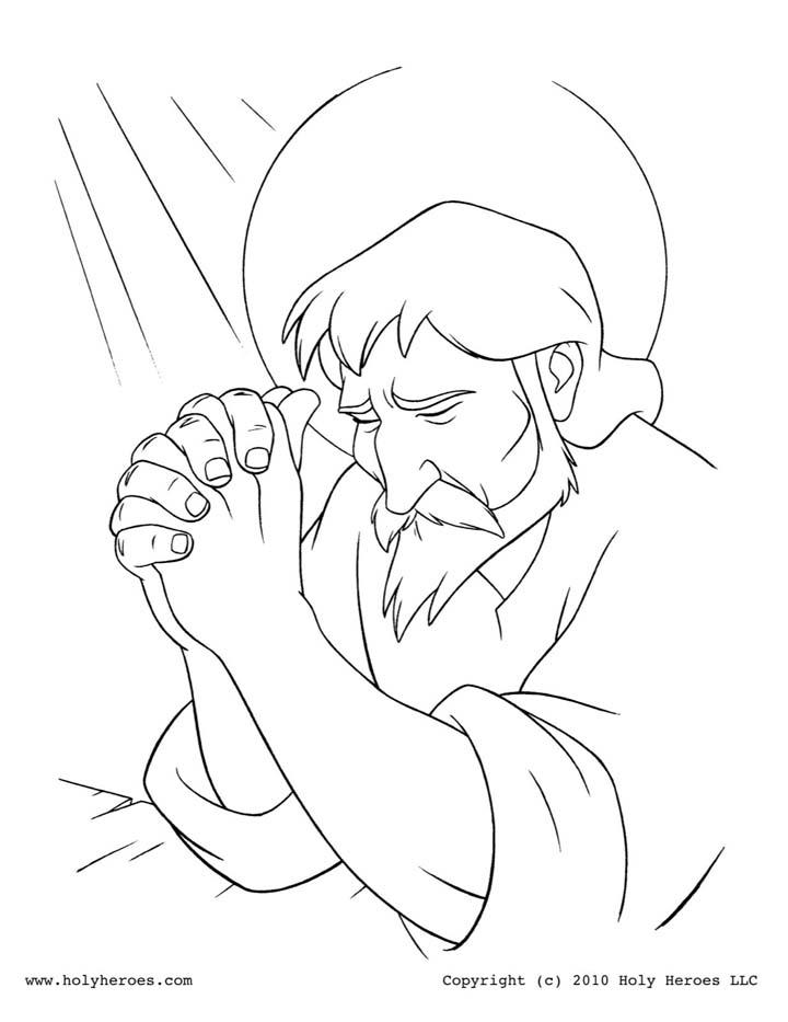 San José pidiendo a Dios