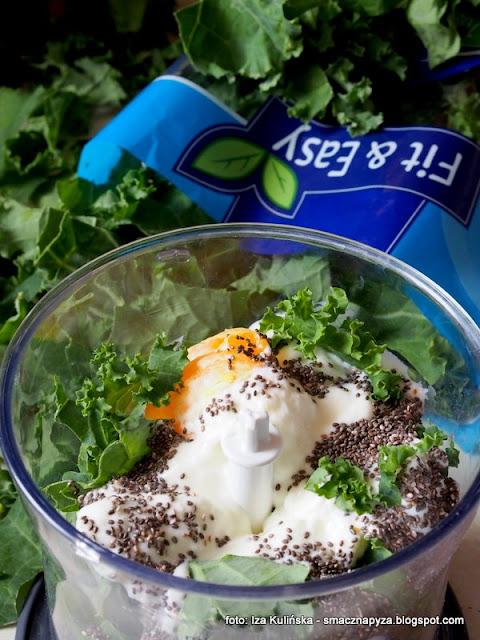 koktajl z jarmużu , jarmuż , nasiona chia , szałwia hiszpańska , detox , dieta , wiosenne przebudzenie , samo zdrowie , śniadanie