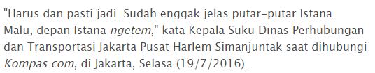 Karena Di anggap memalukan Kini Bajaj dilarang lewat jalan depan Istana Merdeka, Waktu Kampanye Kok pakek bajaj ya ?  - Commando