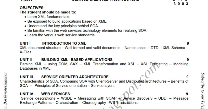 Research papers in service oriented architecture