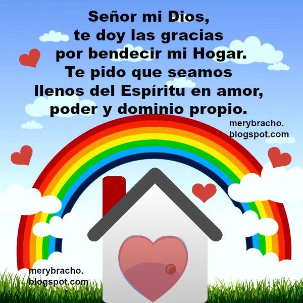 Oración bonita por mi familia, Dios bendiga mi hogar, casa, poder en orar por mis hijos, abuelos, padres, imagen cristiana