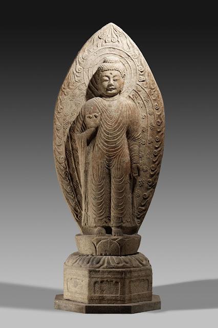 감산사 석조아미타불입상(甘山寺石造阿彌陀佛立像), 통일신라, 전체높이 275.0cm, 국보 제82호