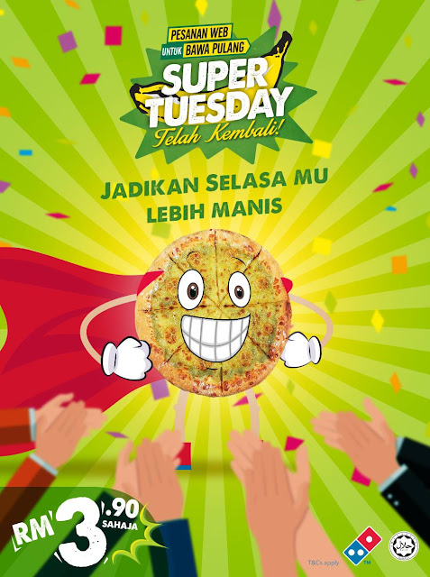 Domino's Pizza Malaysia Super Tuesday Banana Kaya Personal Pizza RM3.90 Discount Offer Promo