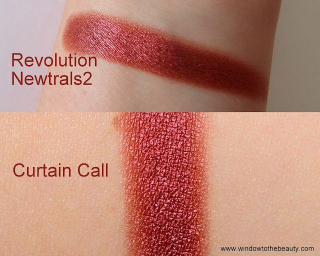 Makeup Geek Curtain Call dupes  swatches