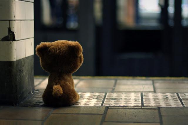 sedih, termenung, menunggu, bear,