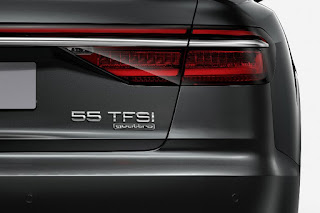 Audi A8 55 TFSI (2018) Rear Detail