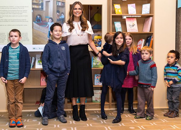 Princess Madeleine visits the Southbank Centre's Children's festival where she opened the Room for Children at the Royal Festival Hall