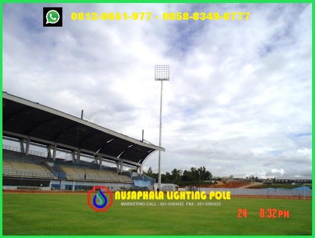 Tiang lampu stadion high mast
