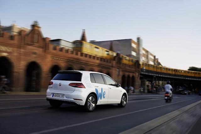 Volkswagen lança serviço de compartilhamento de e-Golf