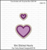 ODBD Custom Mini Stitched Hearts Dies