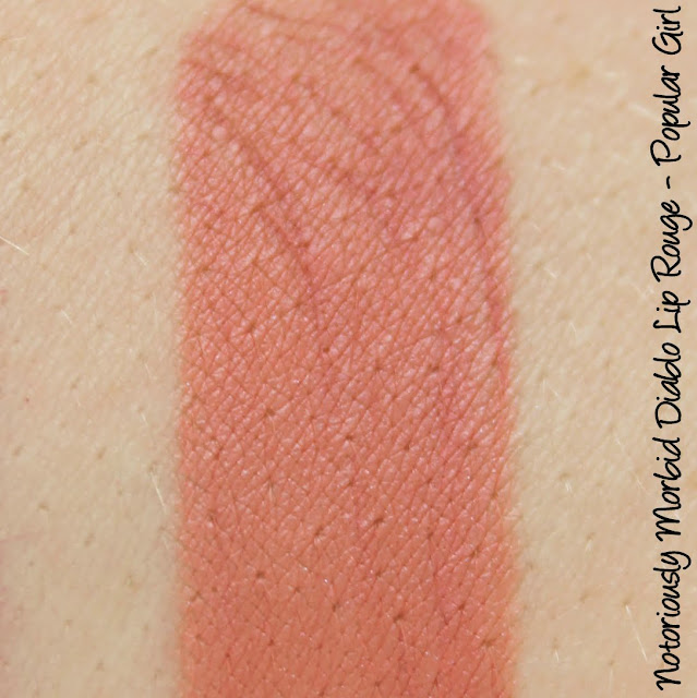 Notoriously Morbid Diablo Lip Rouge - Popular Girl Swatches & Review