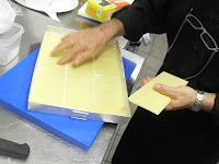 Colocación láminas de lasaña
