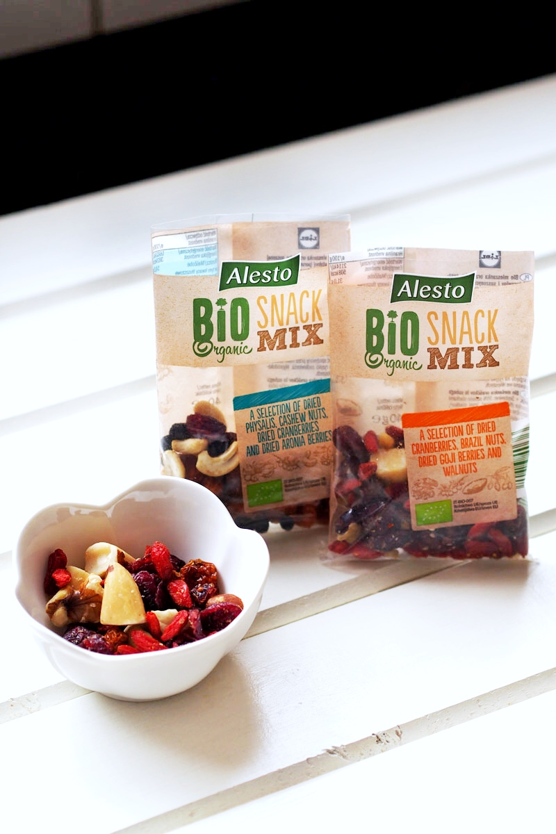 bio organic snack mix Alesto z Lidla