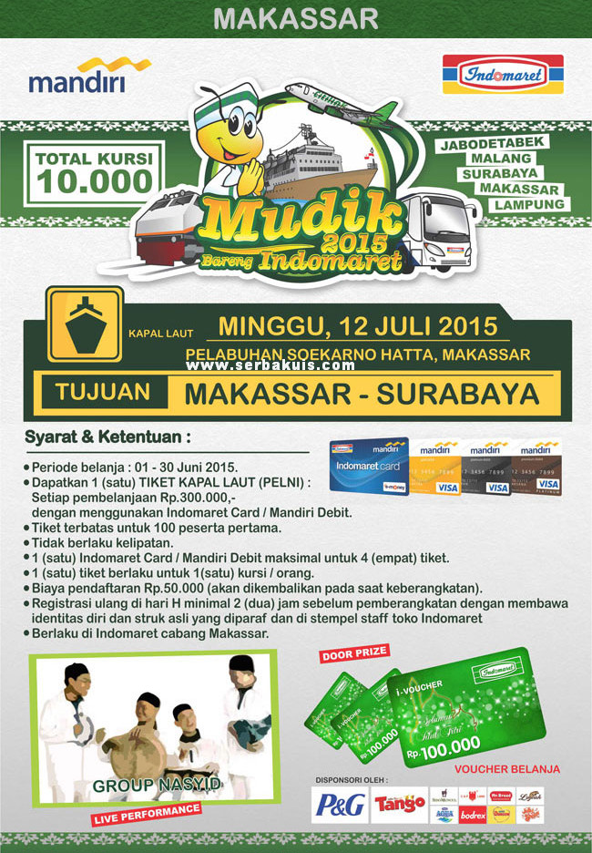 Mudik Bareng Indomaret 2015 Makassar