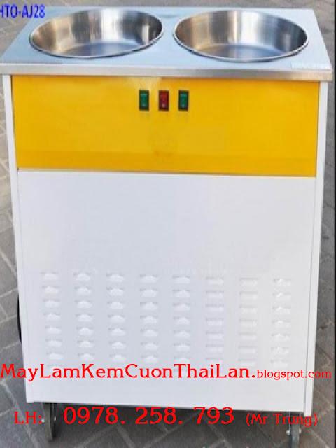 Máy làm kem cuộn Thái Lan mua ở đâu và giá bao nhiêu tại TPHCM