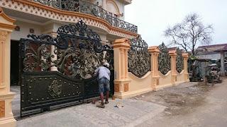 Pagar Klasik Besi Tempa, Pagar Antik, Pagar Mewah, Pintu Pagar Rumah