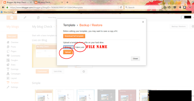 Install Template in Blogger -Dots Created