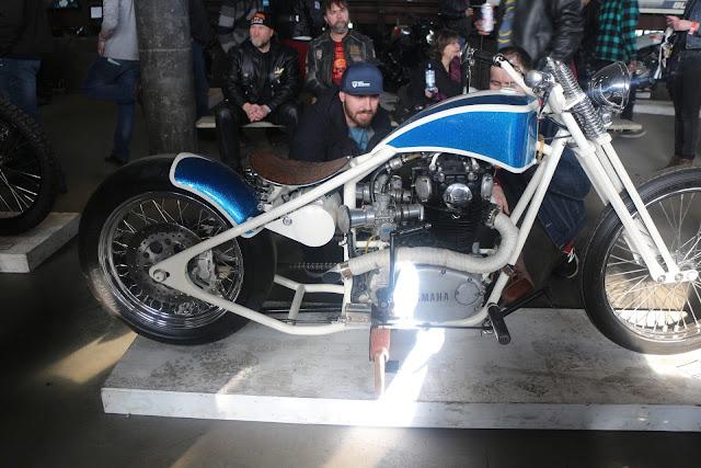 the one moto show number 9 custom build motorcycle yamaha