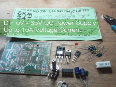 DIY Adjustable power supply circuit using LM723